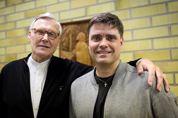 KD Kotkan uudet valtuutetut Kari Tiusanen (vasemmalla) sekä Mikko Almgren.